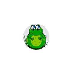 Green Frog 1  Mini Buttons