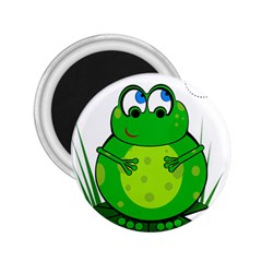 Green Frog 2 25  Magnets