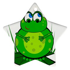 Green Frog Ornament (Star)