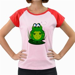 Green Frog Women s Cap Sleeve T-Shirt