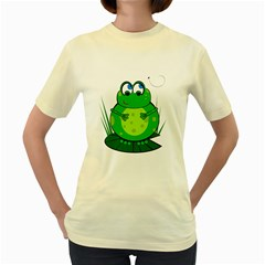 Green Frog Women s Yellow T-Shirt
