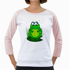 Green Frog Girly Raglans