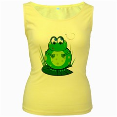 Green Frog Women s Yellow Tank Top
