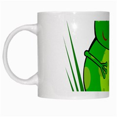 Green Frog White Mugs