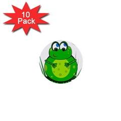 Green Frog 1  Mini Buttons (10 pack)