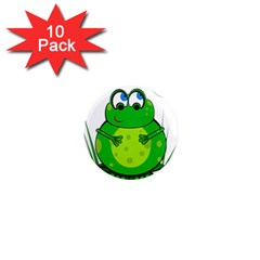 Green Frog 1  Mini Magnet (10 pack)