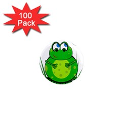 Green Frog 1  Mini Magnets (100 Pack)