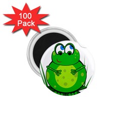 Green Frog 1 75  Magnets (100 Pack)