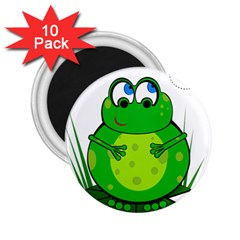 Green Frog 2.25  Magnets (10 pack)