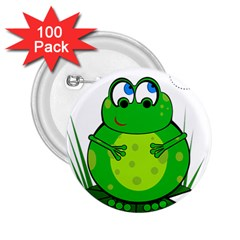 Green Frog 2.25  Buttons (100 pack)