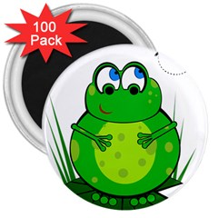 Green Frog 3  Magnets (100 pack)