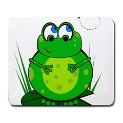 Green Frog Large Mousepads