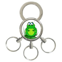 Green Frog 3 Ring Key Chains
