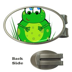 Green Frog Money Clips (Oval)