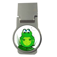 Green Frog Money Clips (Round)