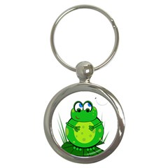 Green Frog Key Chains (round)