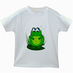 Green Frog Kids White T-Shirts