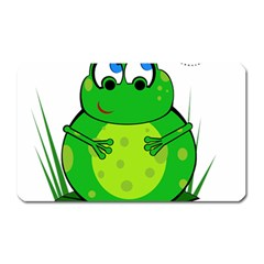 Green Frog Magnet (Rectangular)