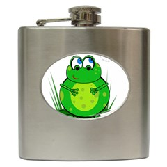 Green Frog Hip Flask (6 oz)