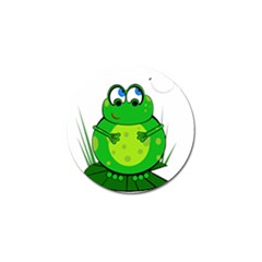 Green Frog Golf Ball Marker
