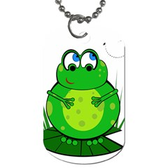 Green Frog Dog Tag (Two Sides)