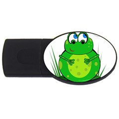 Green Frog Usb Flash Drive Oval (2 Gb)