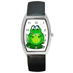 Green Frog Barrel Style Metal Watch