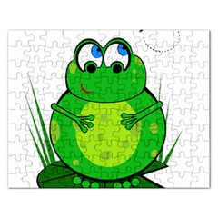 Green Frog Rectangular Jigsaw Puzzl