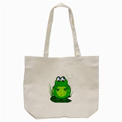Green Frog Tote Bag (Cream)
