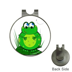 Green Frog Hat Clips with Golf Markers