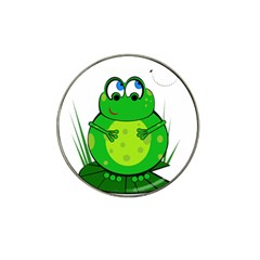 Green Frog Hat Clip Ball Marker