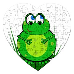 Green Frog Jigsaw Puzzle (Heart)