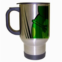 Green Frog Travel Mug (silver Gray)