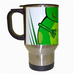 Green Frog Travel Mugs (White)