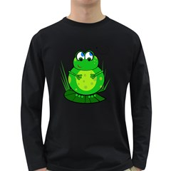 Green Frog Long Sleeve Dark T-Shirts