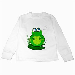 Green Frog Kids Long Sleeve T-Shirts