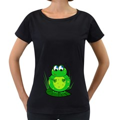 Green Frog Women s Loose-Fit T-Shirt (Black)