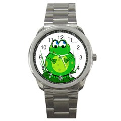 Green Frog Sport Metal Watch