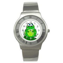 Green Frog Stainless Steel Watch