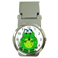 Green Frog Money Clip Watches