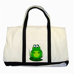 Green Frog Two Tone Tote Bag
