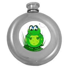 Green Frog Round Hip Flask (5 Oz)