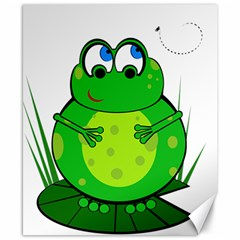 Green Frog Canvas 8  x 10