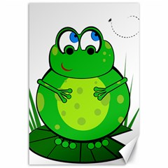 Green Frog Canvas 12  X 18