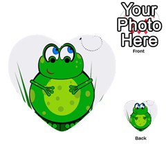 Green Frog Multi-purpose Cards (Heart)