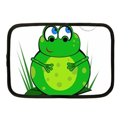 Green Frog Netbook Case (medium)