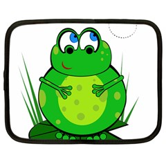Green Frog Netbook Case (Large)