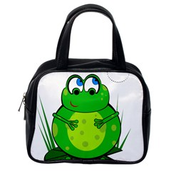 Green Frog Classic Handbags (One Side)