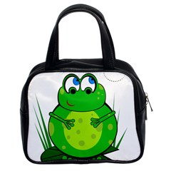 Green Frog Classic Handbags (2 Sides)
