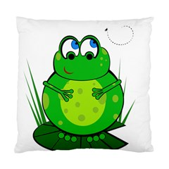 Green Frog Standard Cushion Case (One Side)